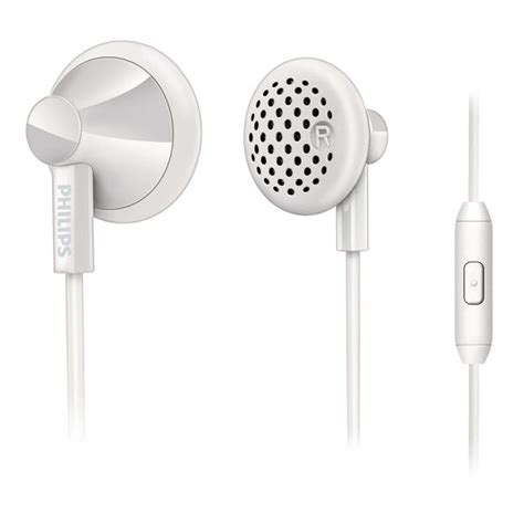 Philips Earphone With Mic She 1355 Wt White philips she2105wt 28 earphones with mic white