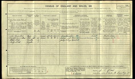 1911 Census Address Search I The 1911 Census The Past