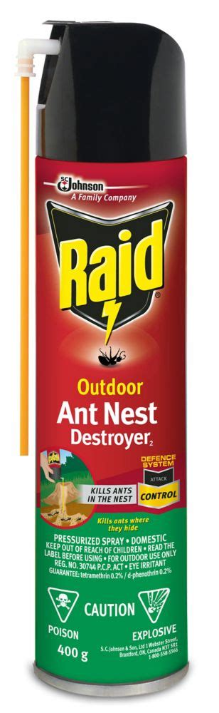 raid outdoor ant nest destroyer the home depot canada