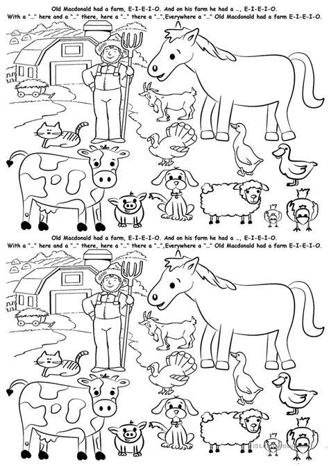 farm animals worksheet free esl printable worksheets