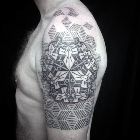 geometric illusion tattoo top 100 best sacred geometry tattoo designs for men