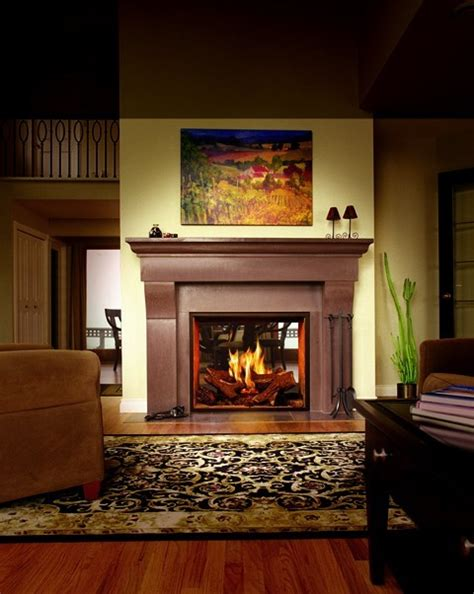 Traditional Gas Fireplaces by Town Country 36 See Thru Gas Fireplace Traditional