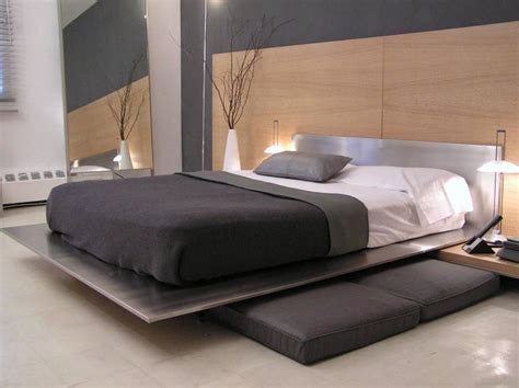 minimal platform bed contemporary minimal platform bed in brushed stainless