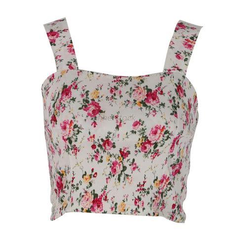 Floral Tank Top summer tank tops bustier bra floral vest