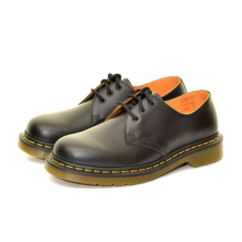 dr martens 1461 shoes black smooth 163 103 50 and