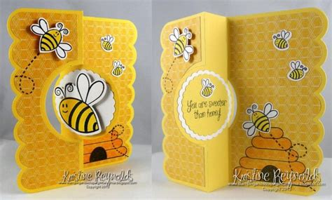 bee cards handmade greeting card happy bee day by stwithkristine