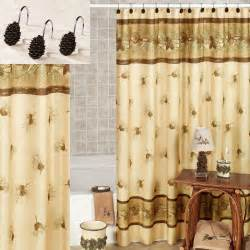 Pinehaven rustic pine cone shower curtain