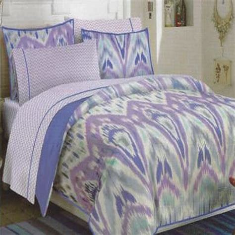 teen vogue ikat stripe 3 piece full queen comforter