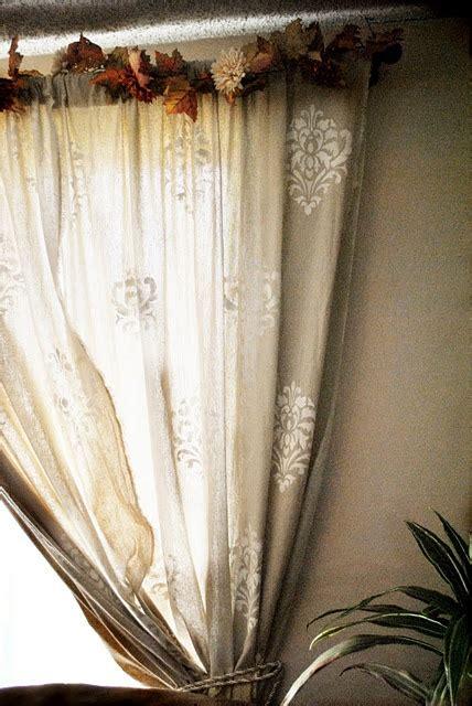 diy stenciled curtains stenciled burlap curtains crafts diy pinterest