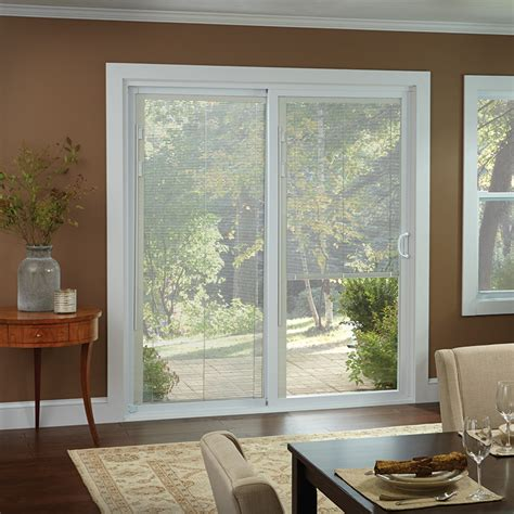 Best Blinds For Sliding Windows Ideas 50 Series Gliding Patio Door With Blinds American Craftsman By Andersen Windows