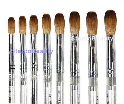 Acrylic Brush L petal silver handle acrylic nail brush crimped acrylic powder manicure pedicure ebay