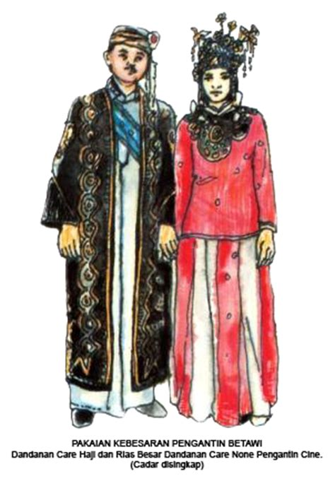 Baju Nikah Adat Betawi 3 pakaian adat betawi tradisikita indonesia