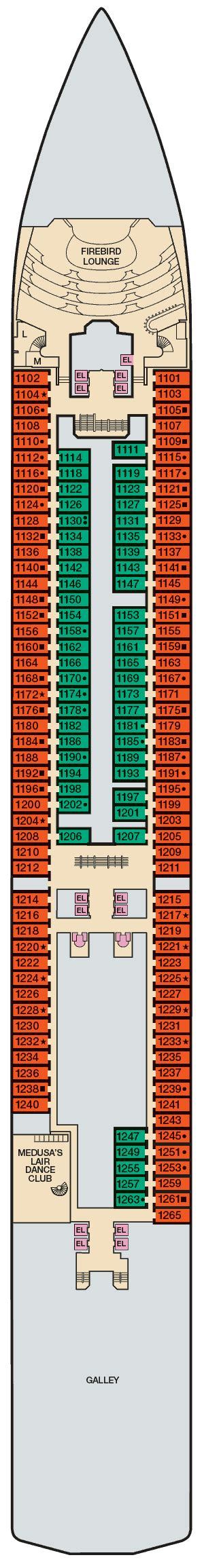 carnival legend floor plan oceanview cabin 1120 on carnival legend category 6a