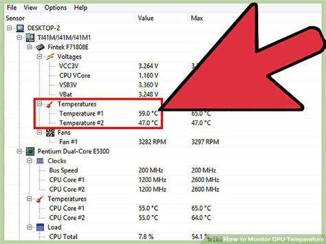 cpu fan temp monitor the simplest way to monitor cpu temperature wikihow