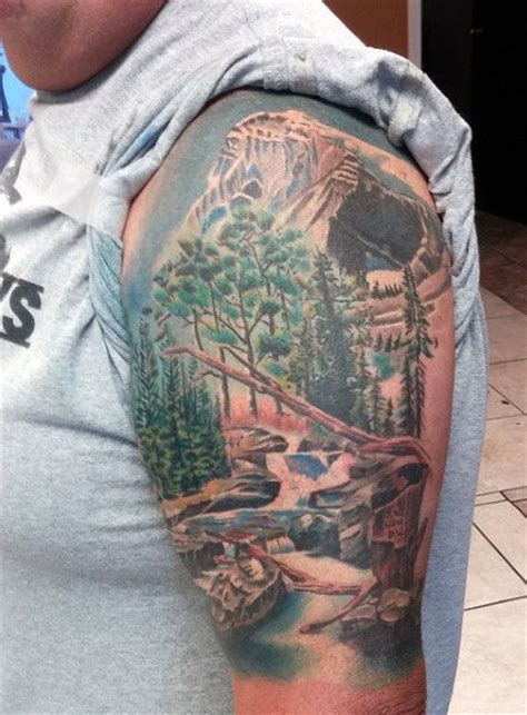 mountain tattoo sleeve 40 mountain designs for climb the highest peak
