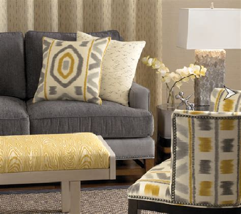 grey and yellow sofa grey and yellowliving rooms kravet ikat yellow