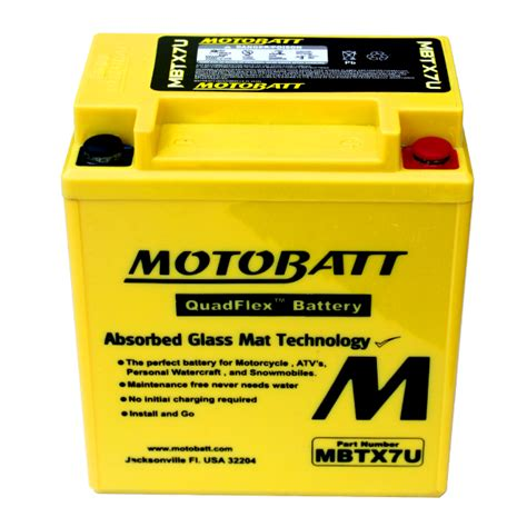 Motorrad Batterie Pflege by Motobatt Mbtx7u Agm Motorrad Batterie Ersetzt Ytx7l Bs