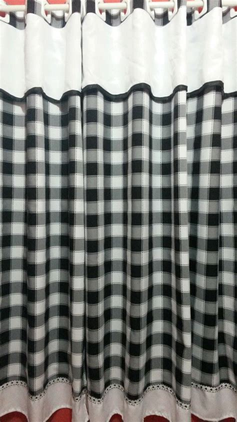 cortinas xadrez para quarto cortina cozinha xadrez preto e branco cortinas cozinha e