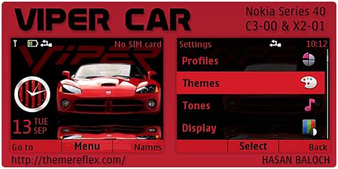 nokia c3 car themes viper car theme for nokia c3 x2 01 themereflex
