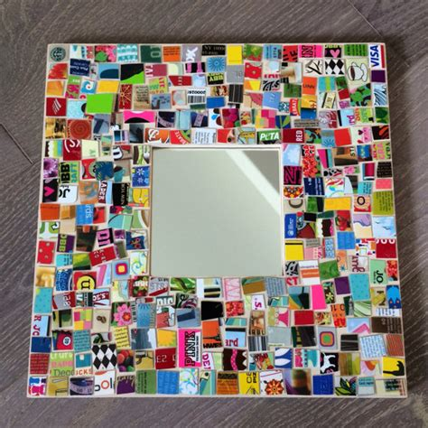 E Credit Card Gift - upcycled gift card credit card mosaic mirror from mybutterflysister on etsy studio