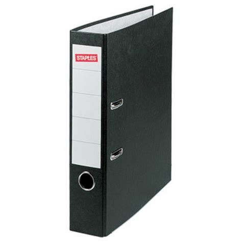 staples 4 file staples lever arch file a4 80 mm spine width black