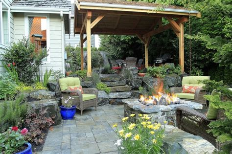 northwest backyard landscaping ideas lovely pacific northwest partially covered patio with