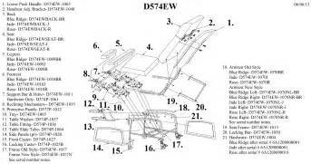 lazy boy recliner mechanism parts diagram car interior
