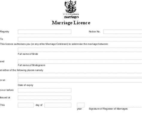 Marriage Records Nz Marriage Forms Regulations 1995 Sr 1995 184 As At 03