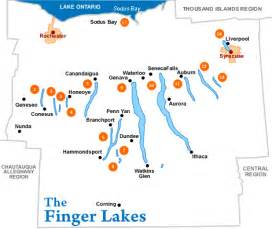 Finger Lakes New York Map by Finger Lakes Vacation Rental Map Find Rentals