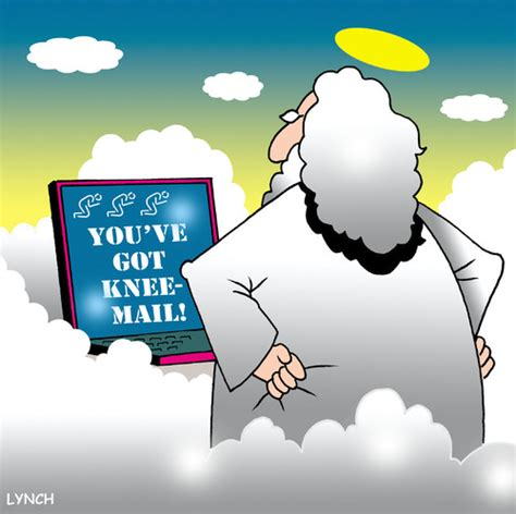 Email From God knee mail by religion toonpool
