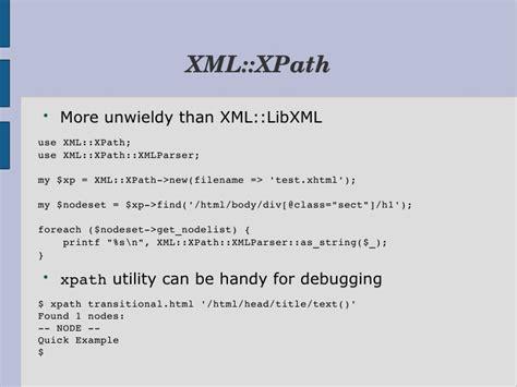 xml libxml tutorial xml tools for perl