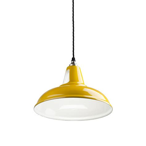 Buy Old School Electric British Spun Steel Factory Pendant Yellow Pendant Lights