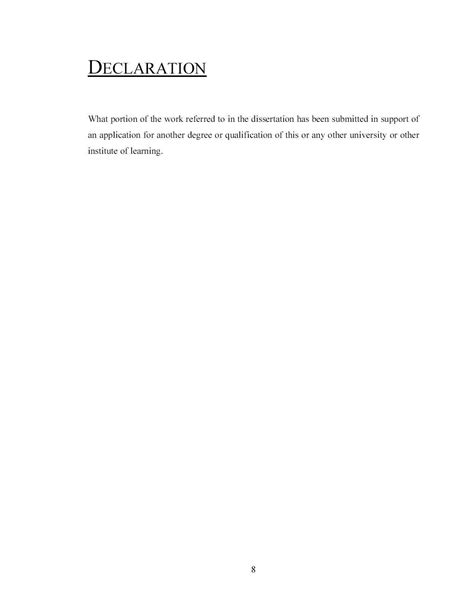 dissertation declaration sle dissertation the of manchester