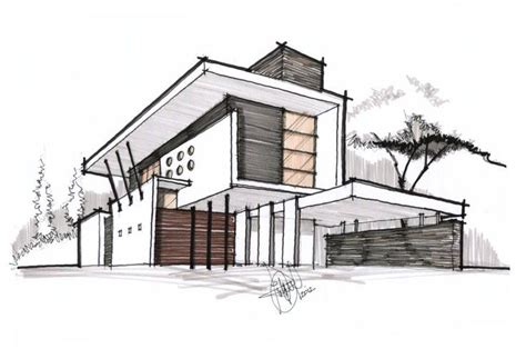 home design drawing architectural sketch with border lines 199 alakalem