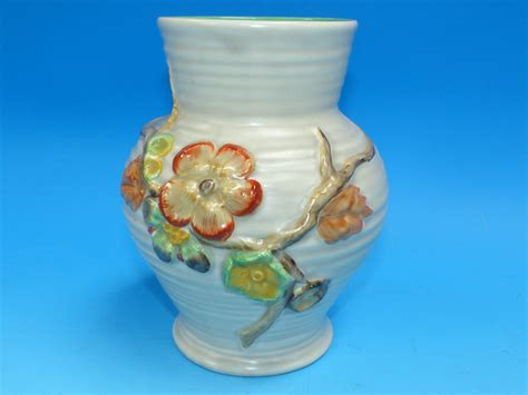 a clarice cliff vase newport pottery no 912 height 7 quot