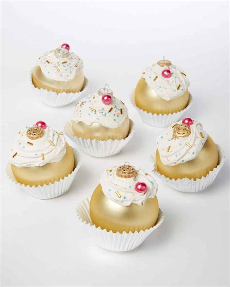 glittered cupcake ornaments martha stewart
