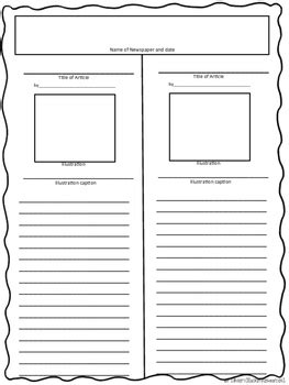 Newspaper Article Templates Free By Rockin Resources Tpt Newspaper Template To Print
