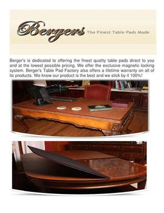 bergers custom table pads bergers table pad factory custom table pads by bergers