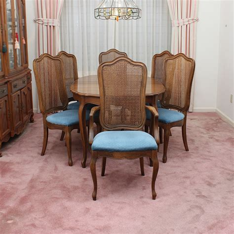 vintage french provincial style dining set  thomasville