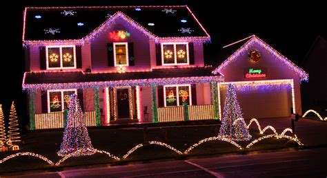 house lit up for christmas pictures photos and images