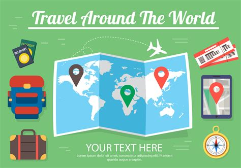 free design never tell the world free travel vector design download free vector art