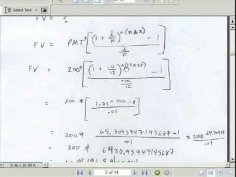 Mba Math Problems by Annuities Math Annuities Formulas