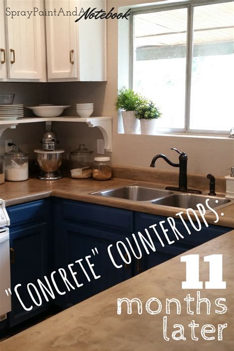 diy concrete countertops  months  home reno diy diy concrete countertops