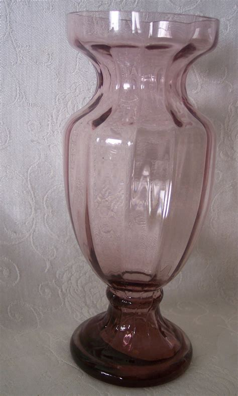 unique vases unique glass hyacinth vase w pedestal footed base purple