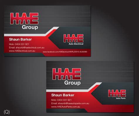 Auto Parts Business Cards Design