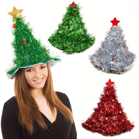 tinsel christmas tree hat on 1pc headband father christmas