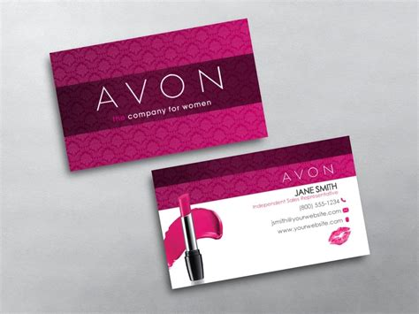 Avon Business Card Template Avon Business Cards Free Shipping