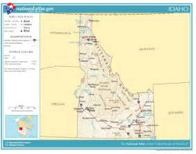 united states geography for idaho