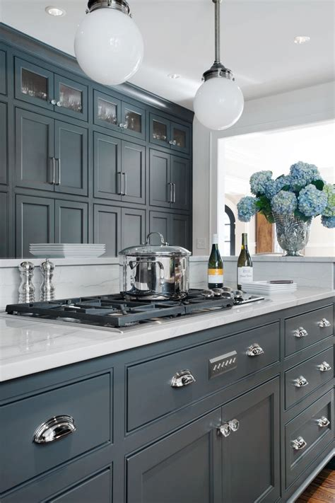 Blue Kitchen Cabinets 25 Best Ideas About Blue Grey Kitchens On Blue Gray Kitchens Grey Kitchen Interior