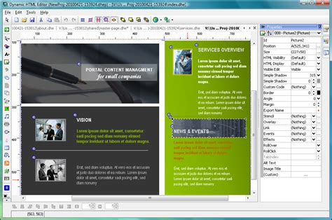 design editor program dynamic html editor 6 8 free download software reviews